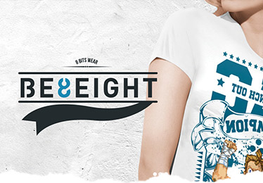 Site E-commerce Be8eight de vente de T-shirt design pour les Rétro Gamers!